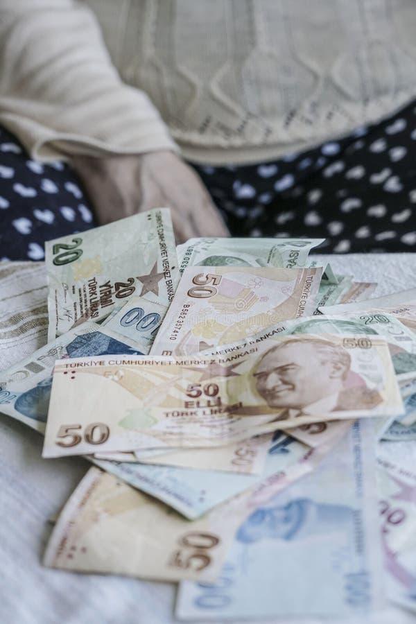 Tureckiego lira banknoty obraz stock