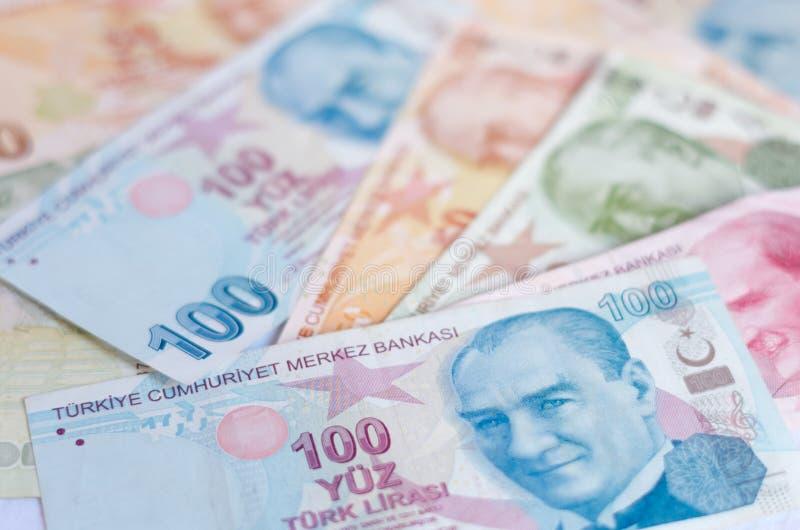 Tureckiego lira banknoty 5000 tło rachunków pieniądze rubli wzoru obrazy royalty free