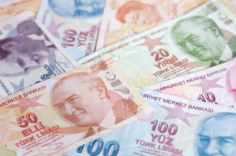 Tureckiego lira banknoty 5000 tło rachunków pieniądze rubli wzoru zdjęcie royalty free
