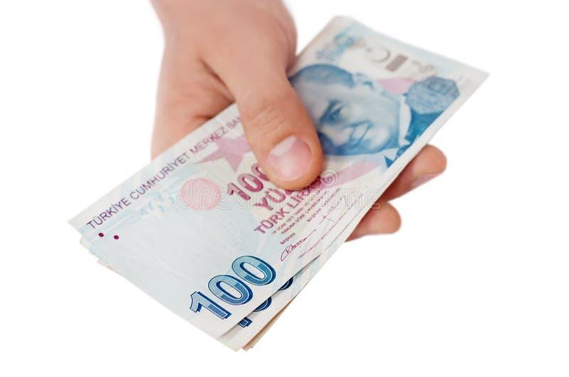 Tureckiego lira banknoty 5000 tło rachunków pieniądze rubli wzoru zdjęcie stock