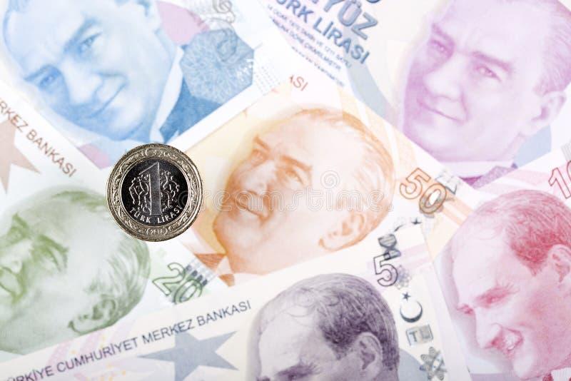 Tureckiego lira moneta zdjęcia royalty free