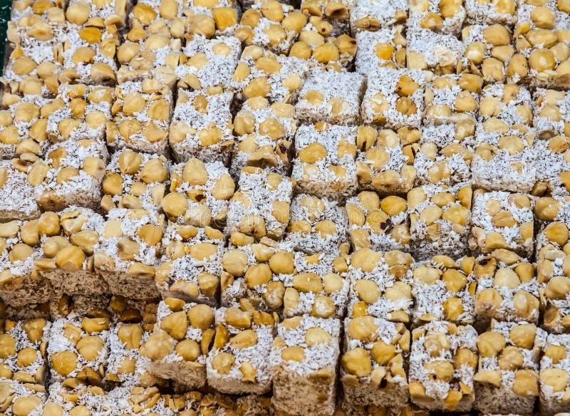 Tureckiego zachwyta cukierki przy pikantnością Wprowadzać na rynek w Istanbuł Turcja zdjęcie royalty free
