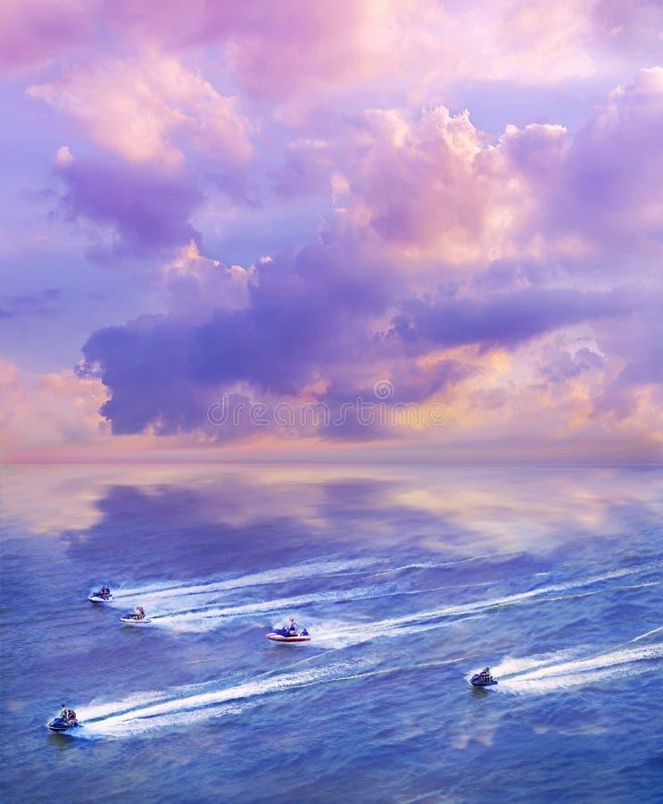 Turen över havet arkivbild