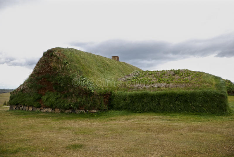 Turf house from Iceland stock image