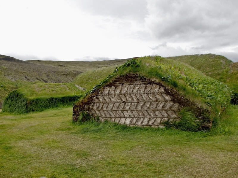 Turf house from Iceland royalty free stock photography