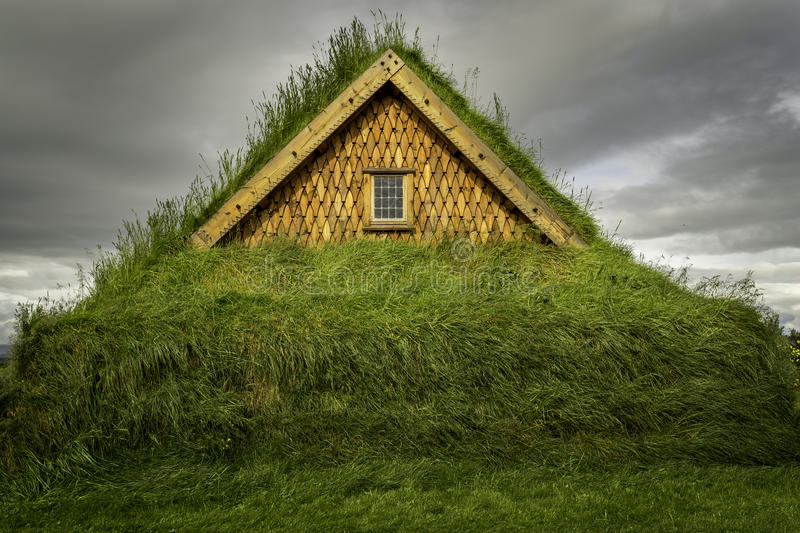 Download Turf House stock image. Image of wood, iceland, exterior - 43346423