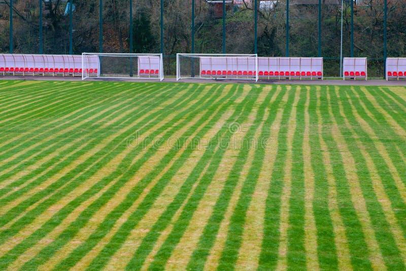 Turf Sur Le Champ De Football image stock