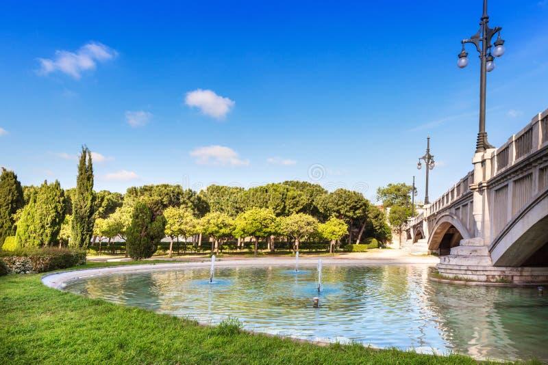 Turia庭院在巴伦西亚,西班牙 库存图片