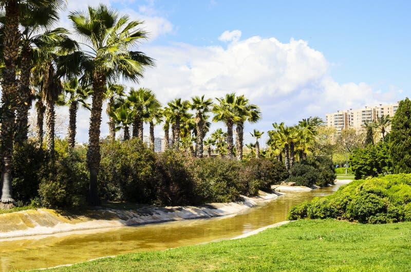 Turia庭院,巴伦西亚,西班牙 库存图片