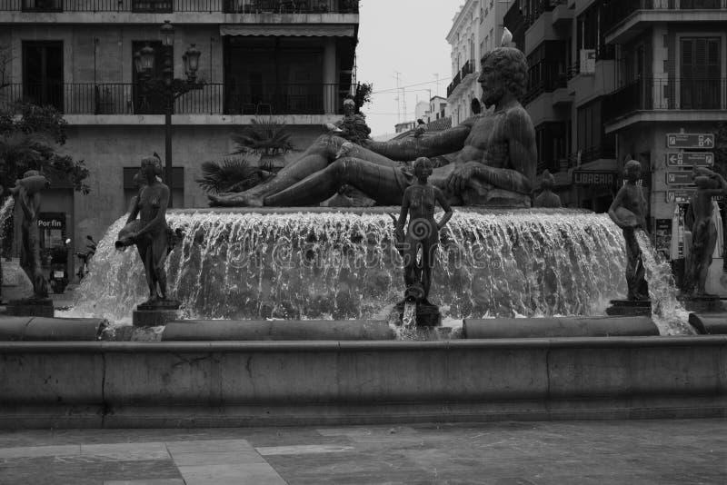 Turia Fountain imagens de stock royalty free