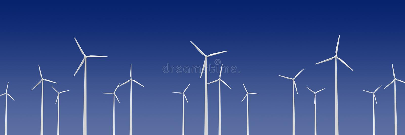 Turibines de vent illustration stock