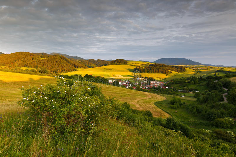 Turiec, Slovakia. View of a typical landscape of Turiec region, northern Slovakia stock photography