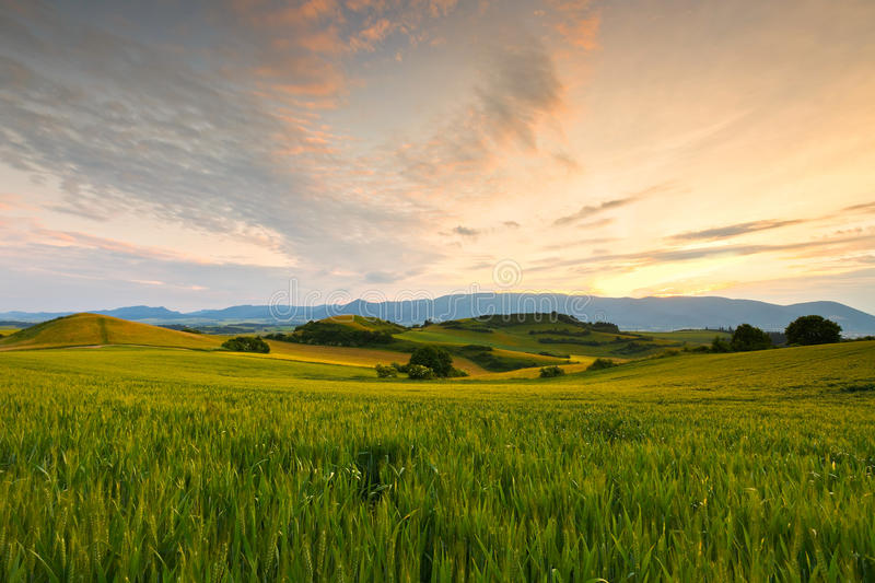 Turiec, Slovakia. View of a typical landscape of Turiec region, northern Slovakia stock photo