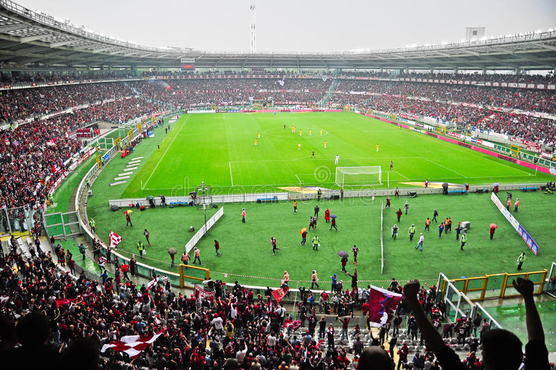 Turijn FC versus Modena FC royalty-vrije stock afbeelding