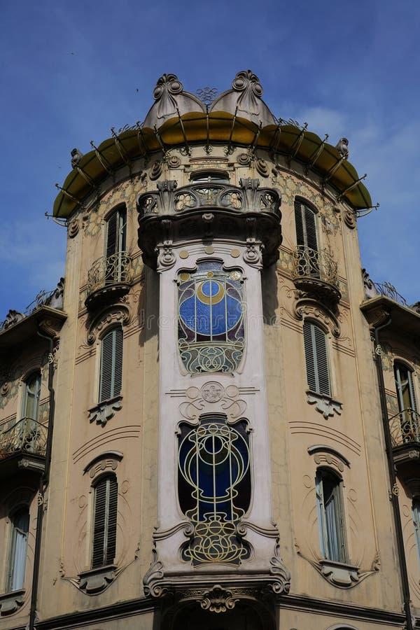 Turijn het Huis fenoglio-Lafleur stock foto's