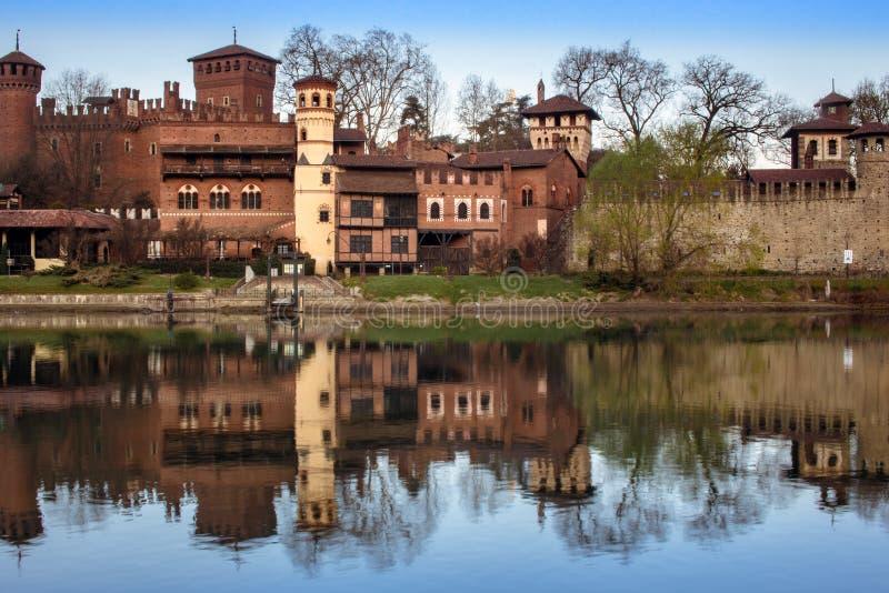 Turijn, het middeleeuwse dorp van valentino royalty-vrije stock fotografie