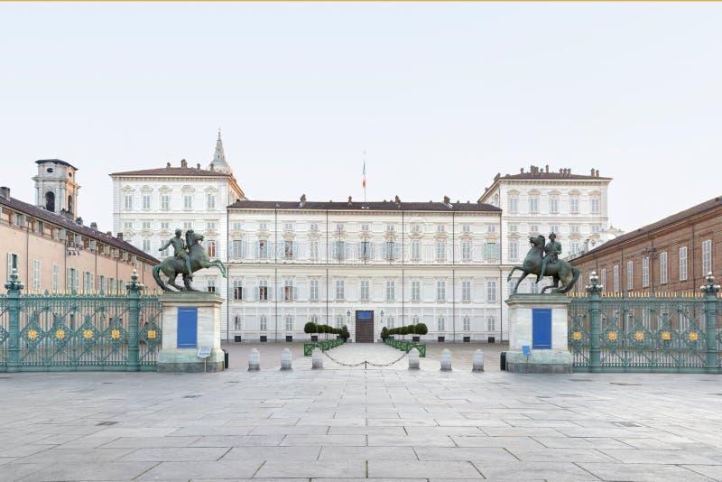 Turijn, Koninklijk paleis, Italië stock foto's