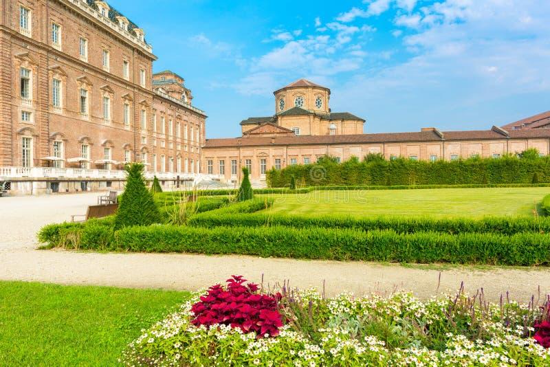 Turijn, Piemonte, Italië, 08 Juli 2017 Reggia van Venaria Reale, n stock afbeelding