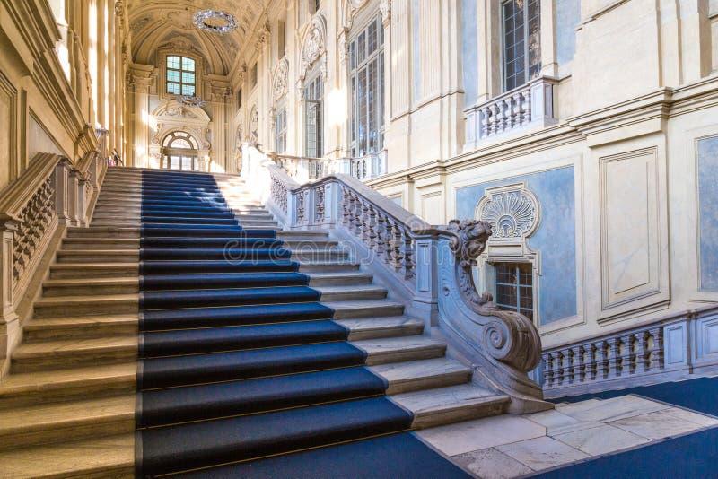 Turijn, Piemonte, Italië, 06 September2017 Paleis beroemde Madama, stock foto