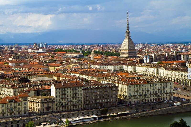 Turin com toupeira imagens de stock