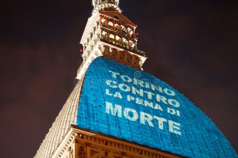 Turin contre la pénalité de mort photographie stock libre de droits