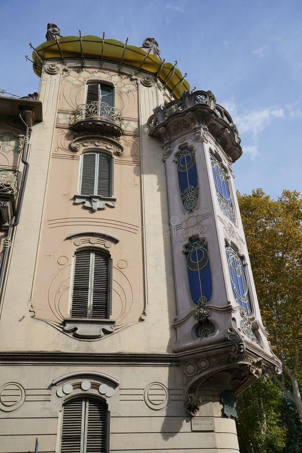 Turin det Fenoglio-Lafleur huset royaltyfri fotografi