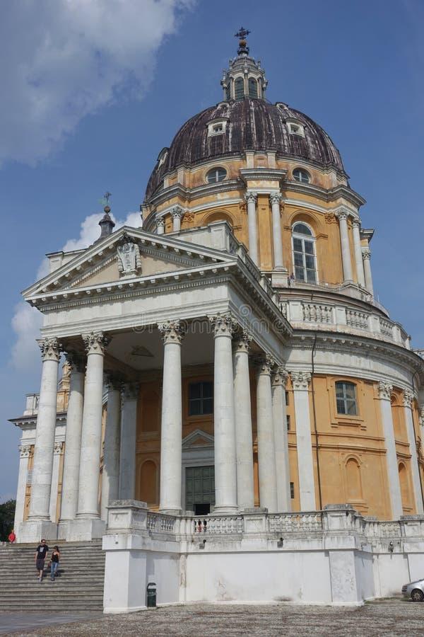 Turin die Basilika von Superga lizenzfreie stockbilder