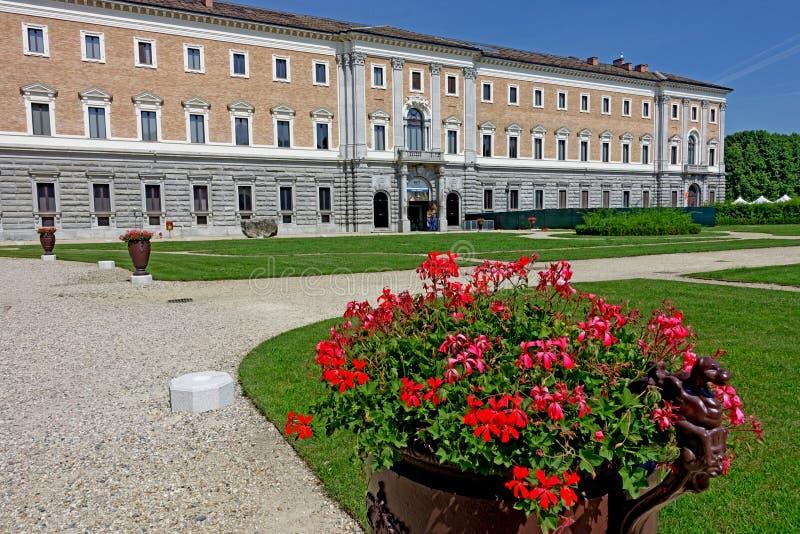 Turin die Gärten des königlichen Palastes stockbild