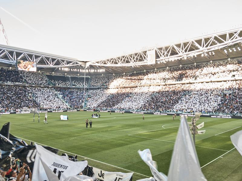 View of the Allianz Stadium, the Juventus home field stock image