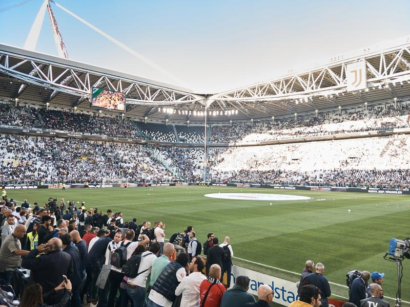 View of the Allianz Stadium, the Juventus home field stock photography