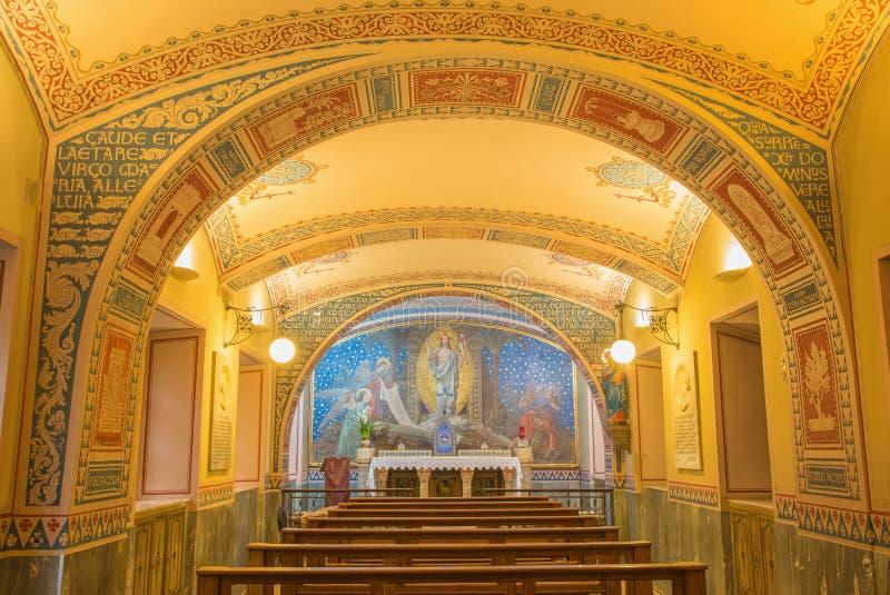 Turin - la petite chapelle Capella Pinardi - la première chapelle de Don Bosco le fondateur de Salesians photographie stock