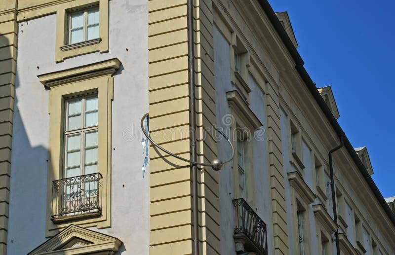 Turin, le palais avec la perforation images stock