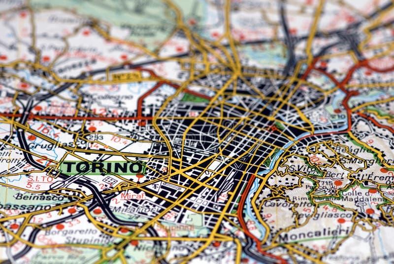 Turin On The Map - Italy Stock Photos