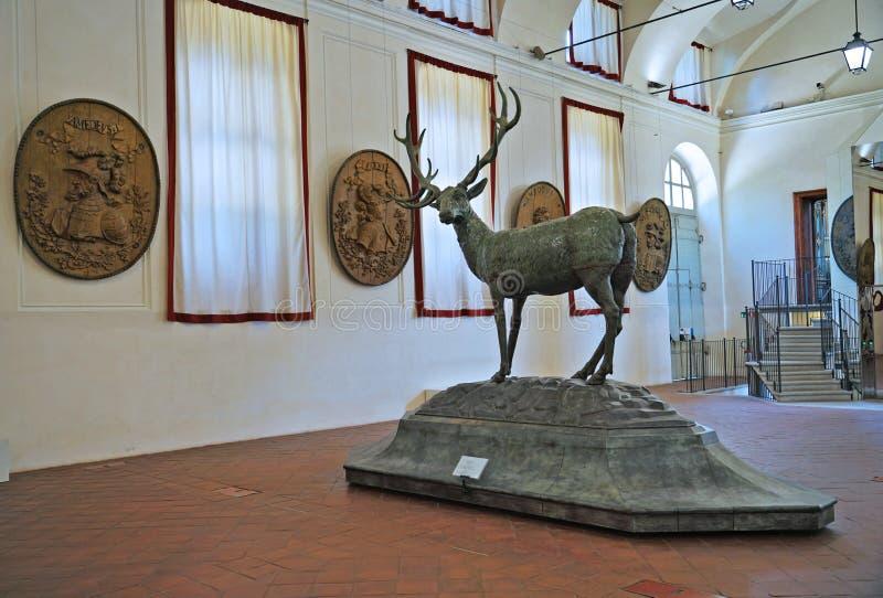 Turin o alojamento de caça de Stupinigi imagem de stock royalty free