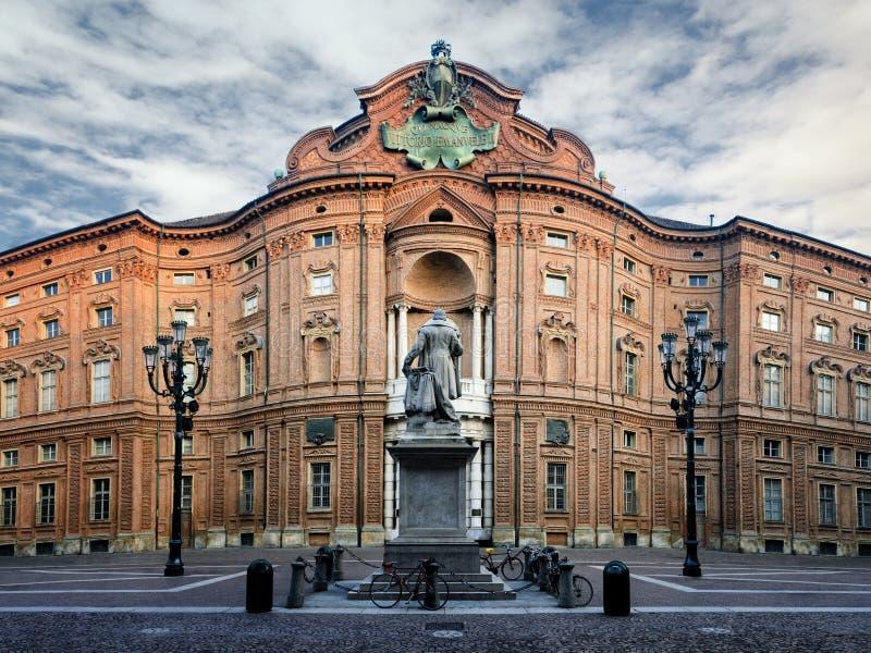 Turin, Palazzo Carignano imagem de stock royalty free