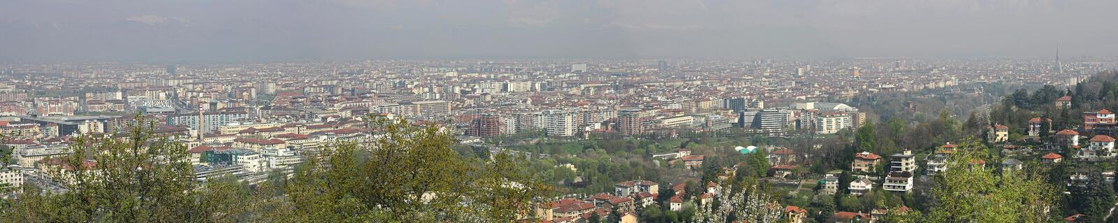 Download Turin panorama 4 stock image. Image of panoramic, landscape - 8863929