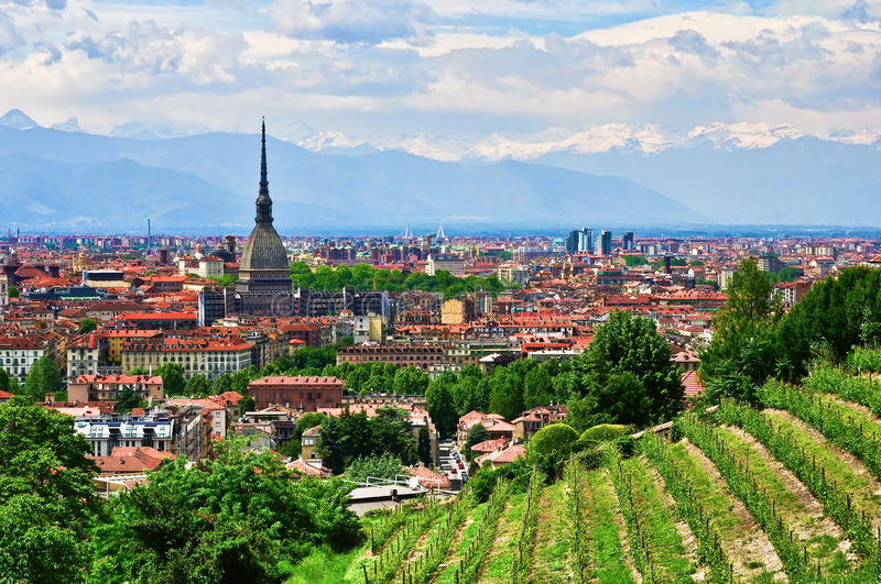 Turin in Piedmont, Italy stock images