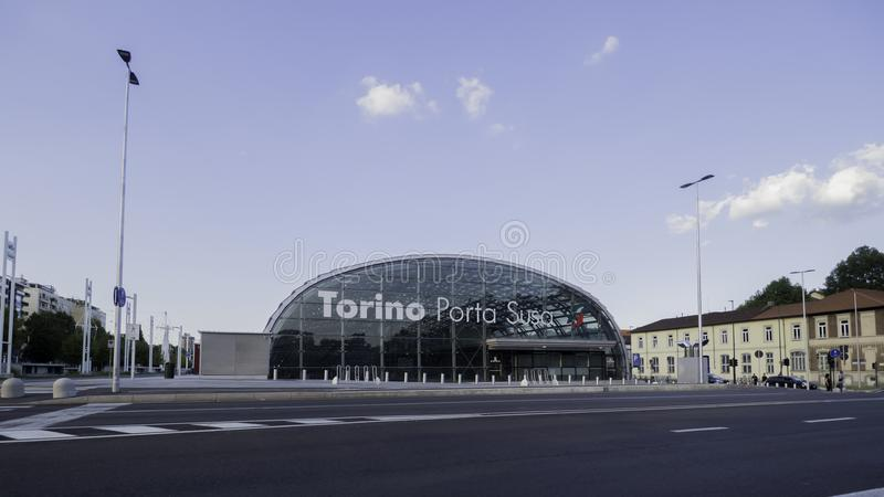 Turin Porta Susa Station stock images