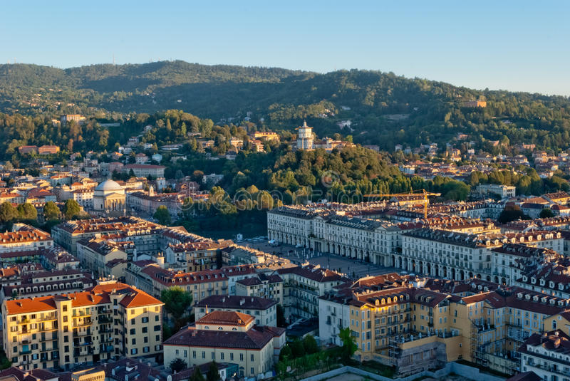 Download Turin (Torino), Italy, Panoramic View On Piazza Vi Royalty Free Stock Photography - Image: 26632947