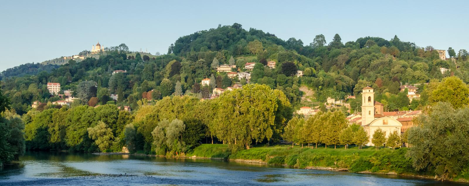 Download Turin (Torino), Panorama With Hills And Po River Stock Photo - Image: 32873122