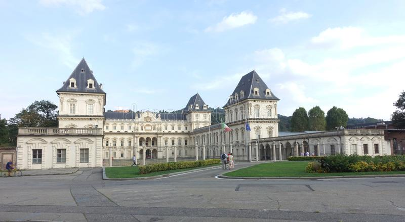 Turin the Valentino Castle stock images