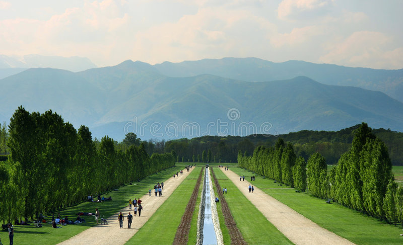 Turin, Venaria Reale, os jardins imagens de stock royalty free