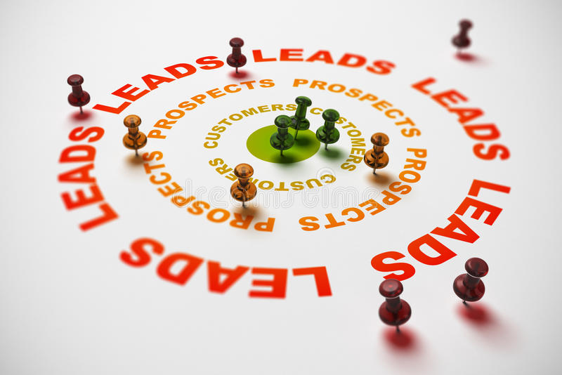 Download Turing Leads Into Sales, CRM Concept Stock Illustration - Image: 30699273