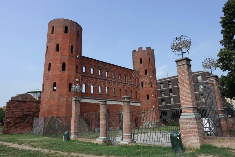 Turino το Porta Palatina στοκ φωτογραφίες