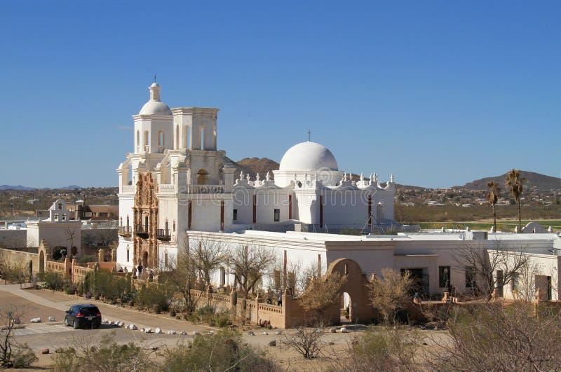 Turism i Tucson (San Xavier del Bac) arkivbild