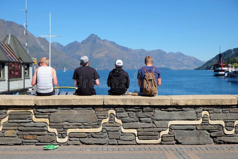 Turismo de la aventura de Nueva Zelanda foto de archivo