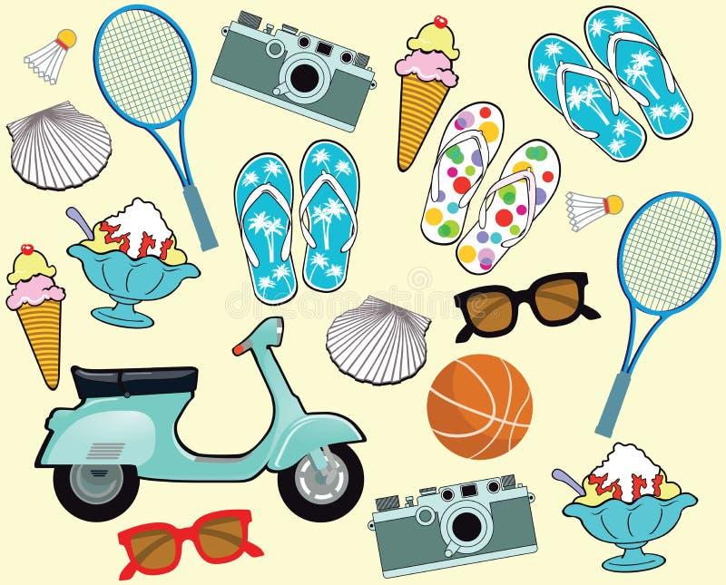 Turismo de las vacaciones de verano libre illustration