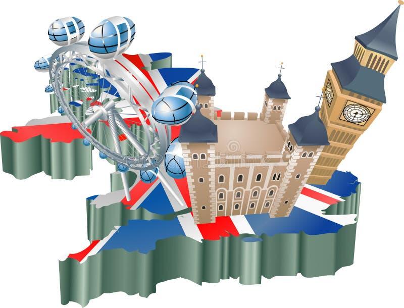 Turismo de Reino Unido ilustração stock