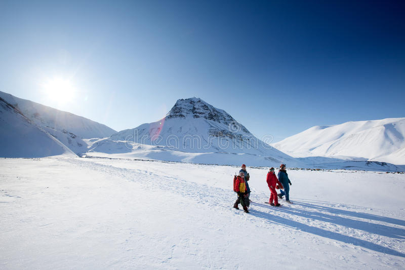 Turismo de Svalbard foto de stock royalty free
