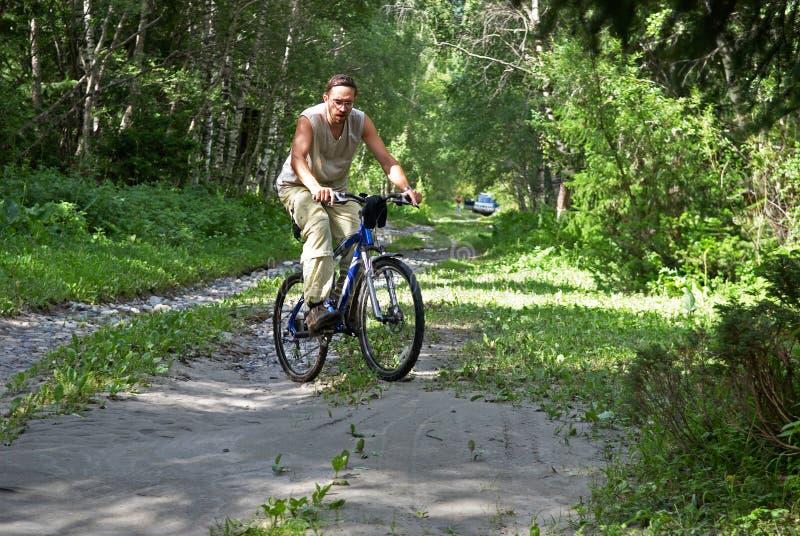 Turismo della bici di montagna immagini stock libere da diritti